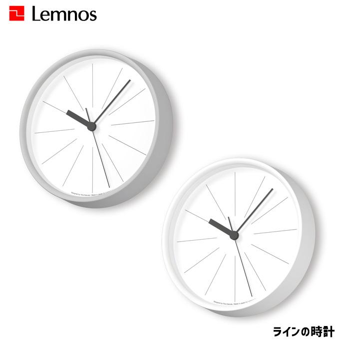 時計 ラインの時計 タカタレムノス TAKATA Lemnos YK18-09 掛け時計 ウォールクロック 掛時計 スイープセコンド シンプル スタイリッシュ