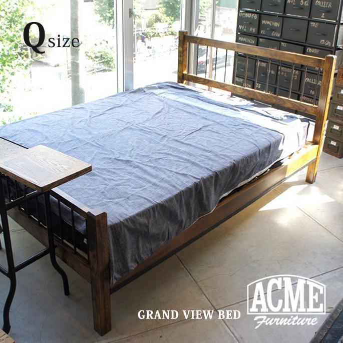 アクメファニチャー カフェスタイルインテリア 最新 レトロビンテージテイスト おしゃれな家具 アメリカンファニチャー ACME Furniture VIEW ベッド BED クイーンサイズ 手数料無料 QUEEN グランドビュー GRAND