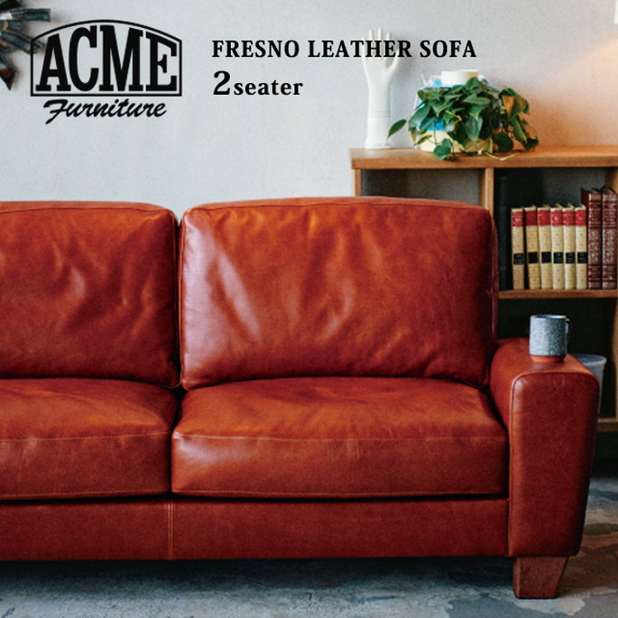 アクメファニチャー ACME Furniture ACME Furniture FRESNO LEATHER SOFA SOFA 2-Seater, キノモトチョウ:1bd78e82 --- apps.fesystemap.dominiotemporario.com