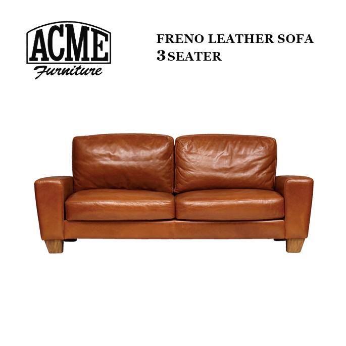 アクメファニチャー ACME Furniture FRESNO LEATHER SOFA 3-Seater