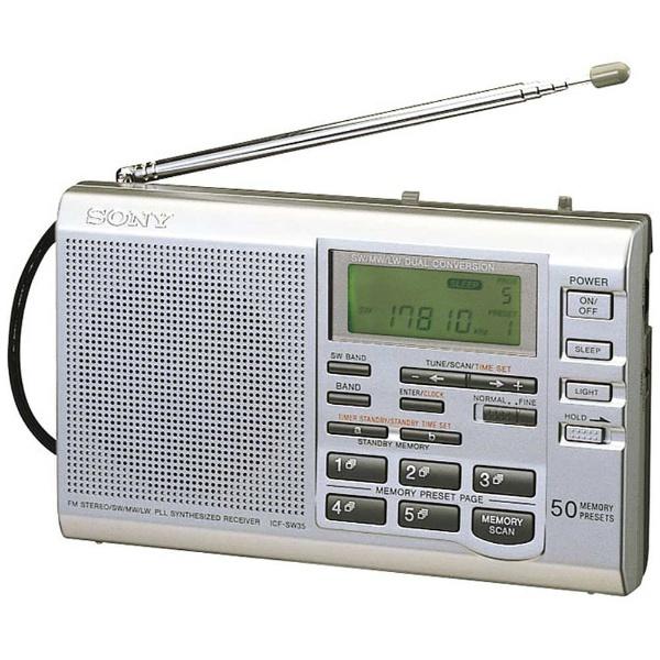 소니 FM/MW/SW(단파)/LW(장파) 휴대 라디오 ICF-SW35[ICFSW35]