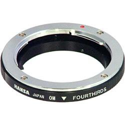 【送料無料】 ハンザテック マウントアダプター オリンパスOM(レンズ側)―フォーサーズ(ボディ側)[生産完了品 在庫限り][c-ksale]