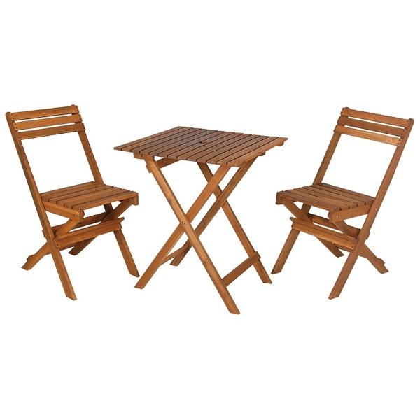 【送料無料】 キャプテンスタッグ パラソルアダプター付 ガーデン用テーブルチェアセット サンフォレスト FDスクエアーテーブル<60>3点セット MG2743【耐荷重:テーブル:30kg、チェア:70kg】