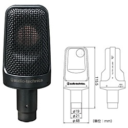 【送料無料】 オーディオテクニカ バックエレクトレットコンデンサーマイクロホン AE3000