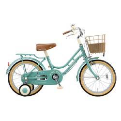 【送料無料】 ブリヂストン 16型 幼児用自転車 ハッチ(グリーン)HC162【組立商品につき返品不可】 【代金引換配送不可】