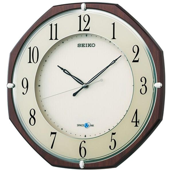【送料無料】 セイコー 衛星電波掛け時計 「スペースリンク」 GP207B