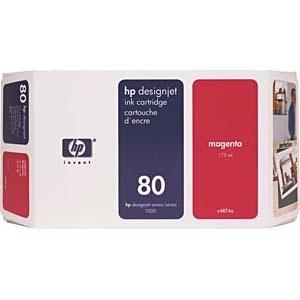 【送料無料】 HP ヒューレット・パッカード 【純正】 HP80 インクカートリッジ (マゼンタ・350ml) C4847A