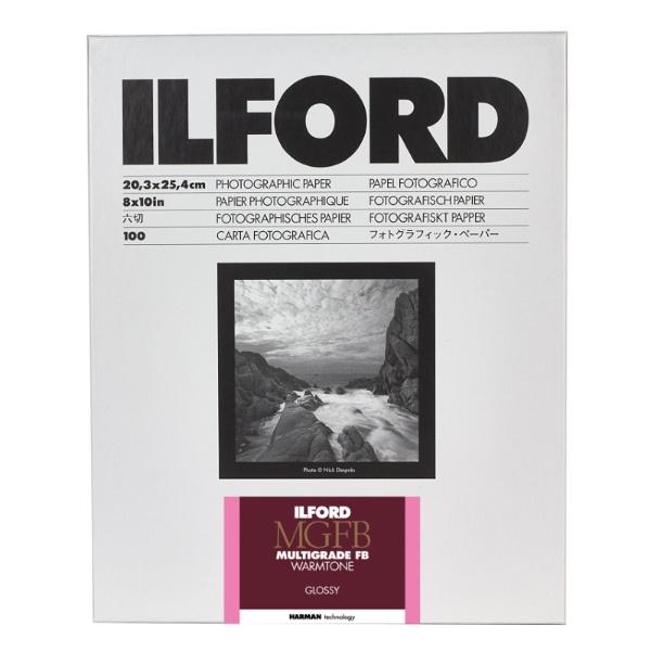 【送料無料】 イルフォード マルチグレードFB ウォームトーン 1K (光沢) 8×10in (六切) 100枚入[MGFBWT1K8X10]