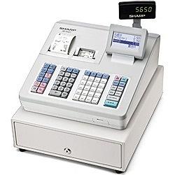 【送料無料】 シャープ SHARP 電子レジスター (ブロック別キーボードタイプ) XE-A407-W(ホワイト)[XEA407W]