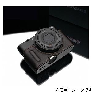 【送料無料】 GARIZ 本革カメラケース 【ソニー サイバーショット DSC-RX100/RX100M2兼用】(ブラウン) HG-RX100IIBR[生産完了品 在庫限り][HGRX100IIBR]