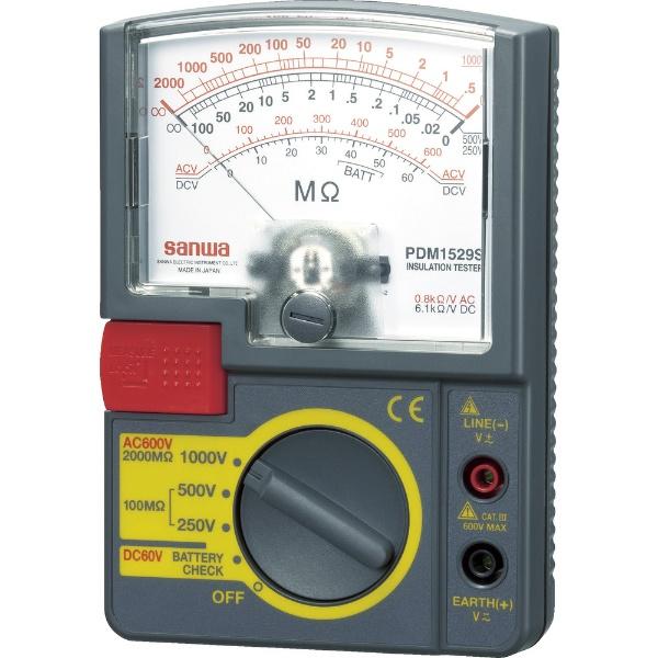 【送料無料】 三和電気計器 アナログ絶縁抵抗計 1000V/500V/250V PDM1529S