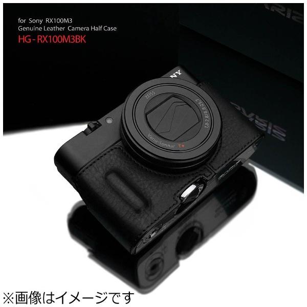 【送料無料】 GARIZ 本革カメラケース 【ソニー RX100MIII/RX100MII/RX100用】(ブラック) HG-RX100M3BK[HGRX100M3BK]