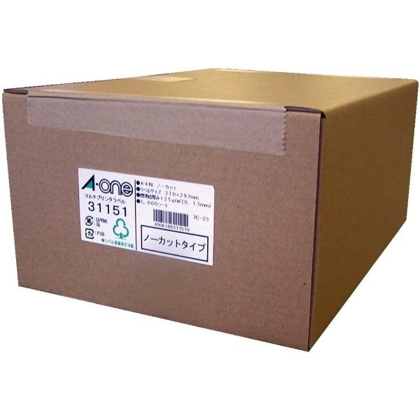 【送料無料】 エーワン ラベルシール[プリンタ兼用] (A4サイズ・1000枚) 31151