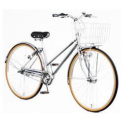 【送料無料】 アサヒサイクル 27型 自転車 ラ・ベール(シルバー/内装3段変速) YT7QLF【組立商品につき返品不可】 【代金引換配送不可】【メーカー直送・代金引換不可・時間指定・返品不可】