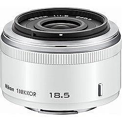 【送料無料】 ニコン カメラレンズ 1 Nikkor 18.5mm f/1.8【ニコン1マウント】(ホワイト)[1N18.51.8WH]