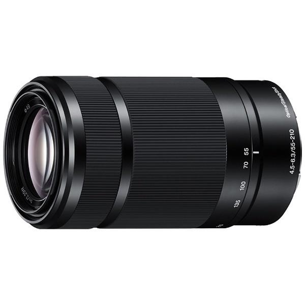 【送料無料】 ソニー SONY カメラレンズ E 55-210mm F4.5-6.3 OSS【ソニーEマウント(APS-C用)】(ブラック)[SEL55210BQ]
