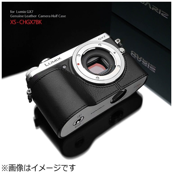 【送料無料】 GARIZ 本革カメラケース 【パナソニック LUMIX GX7用】(ブラック) XS-CHGX7BK[XSCHGX7BK]