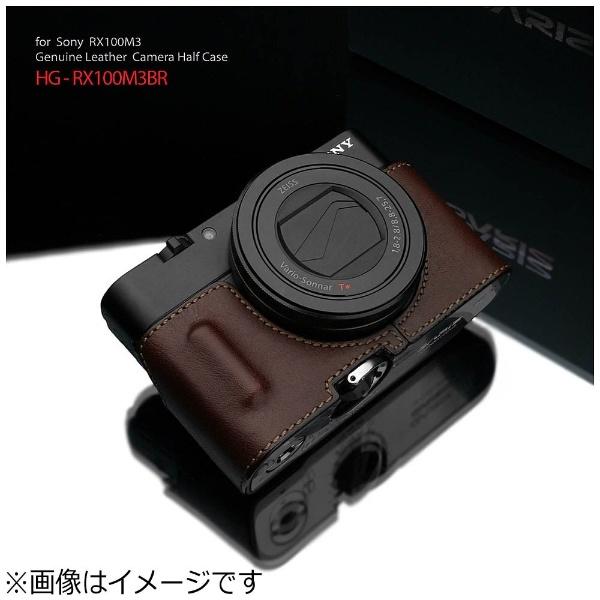 【送料無料】 GARIZ 本革カメラケース 【ソニー RX100MIII/RX100MII/RX100用】(ブラウン) HG-RX100M3BR[HGRX100M3BR]