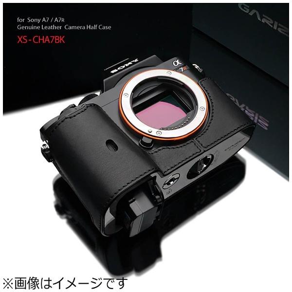 【送料無料】 GARIZ 本革カメラケース 【ソニー α7R/α7兼用】(ブラック) XS-CHA7BK[XSCHA7BK]