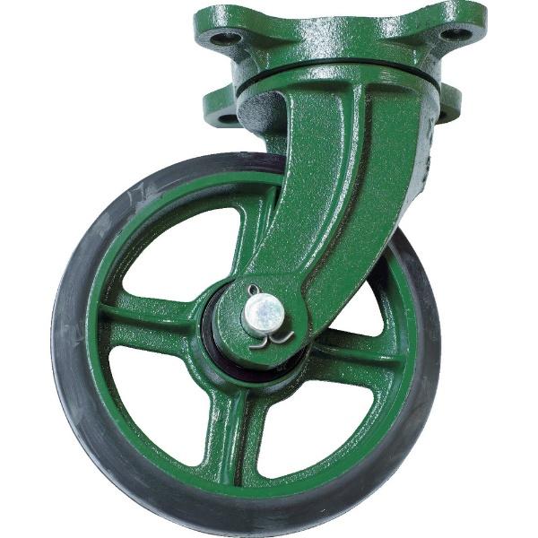 【送料無料】 トラスコ中山 鋼鉄製運搬車用 鋳物金具自在キャスターφ200ゴム車 TAJ200