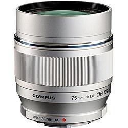 【送料無料】 オリンパス カメラレンズ M.ZUIKO DIGITAL ED 75mm F1.8【マイクロフォーサーズマウント】(シルバー)[ED75MMF1.8]