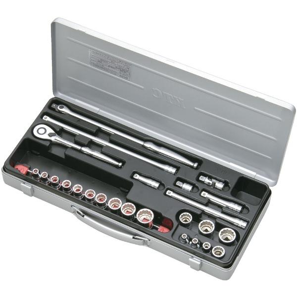 【送料無料】 京都機械工具(KTC) 9.5sq.ソケットレンチセット[25点] TB317X