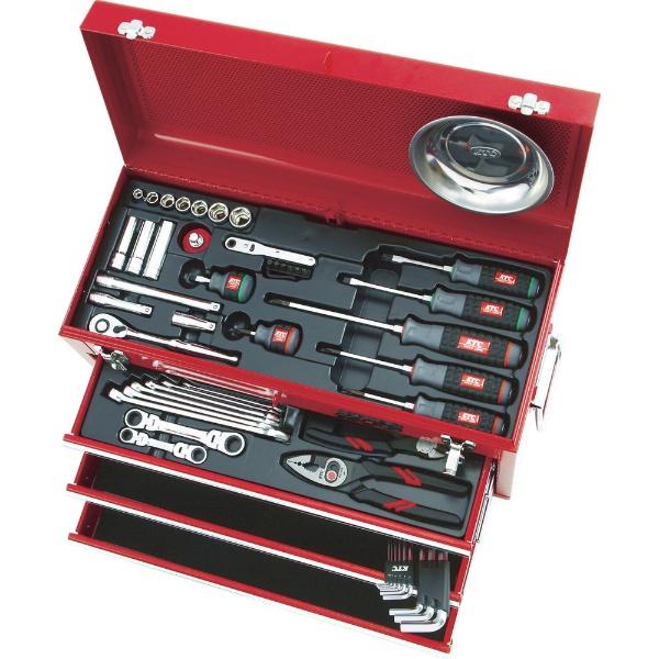 【送料無料】 京都機械工具(KTC) 整備用工具セット(チェストタイプ) SK3567X