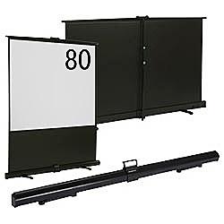 【送料無料】 キクチ科学 80インチ床置きタイプモバイル4:3スクリーン GUP-80W ホワイトマットマテリアル[GUP80W]