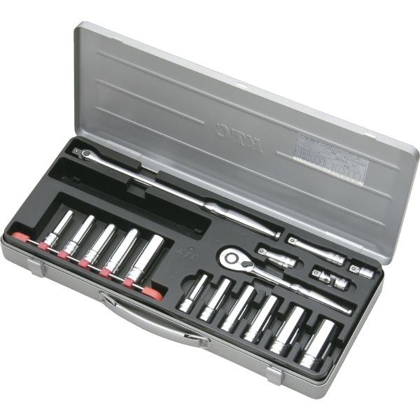 【送料無料】 京都機械工具(KTC) 9.5sq.ディープソケットレンチセット[17点] TB3L11X