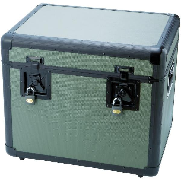 【送料無料】 トラスコ中山 万能アルミ保管箱 オリーブドラブ 543×410×457 TAC540OD