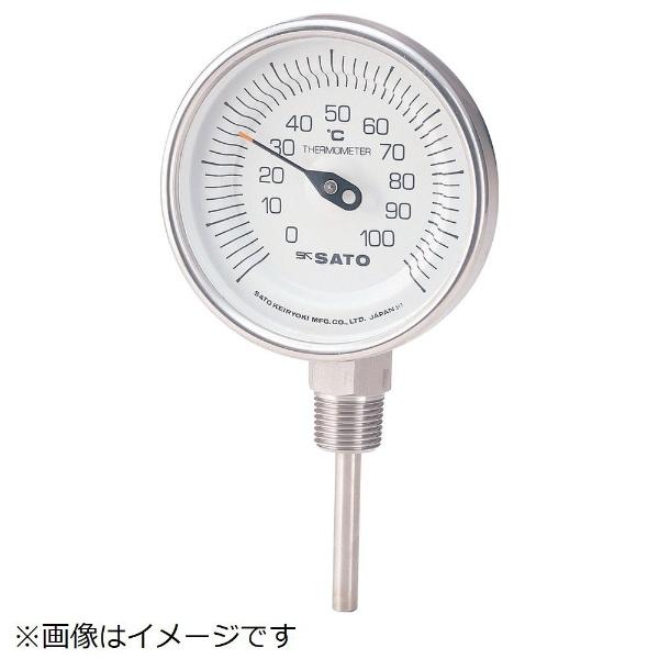 【送料無料】 佐藤計量器製作所 バイメタル温度計BMーS型 BMS90S5《※画像はイメージです。実際の商品とは異なります》