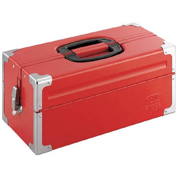 【送料無料】 TONE ツールケース(メタル) V形2段式 433X220X195mm レッド BX322