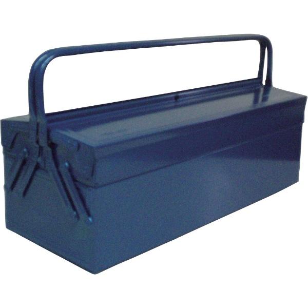 【送料無料】 トラスコ中山 2段式工具箱 600X220X305 ブルー GL600B