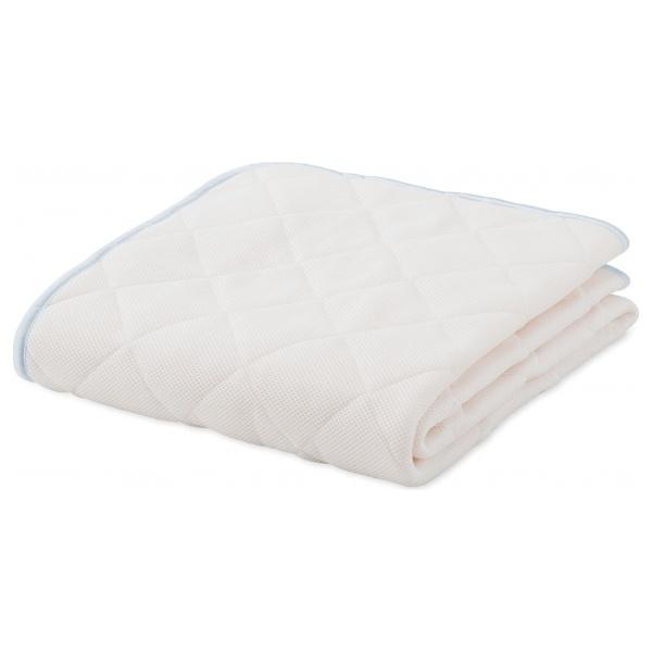 【送料無料】 フランスベッド 【ベッドパッド】モイスケアメッシュパッド ワイドダブルサイズ(154×195cm/ホワイト)