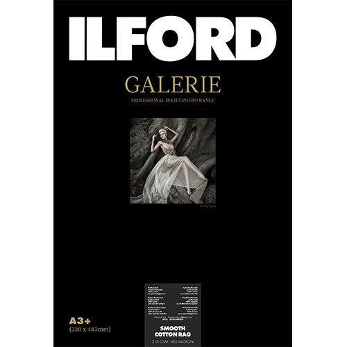 【送料無料】 イルフォード ギャラリープレステージ スムースコットンラグ 310g/m2 (A3ノビサイズ・25枚) GALERIE Smooth Cotton Rag 422375