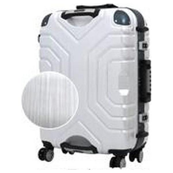 【送料無料】 エスケープ TSAロック搭載スーツケース(52L) B5225T-58 ヘアラインホワイト/ブルー