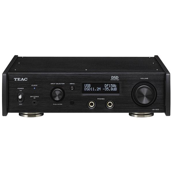 【送料無料】 TEAC 【ハイレゾ音源対応】ヘッドホンアンプ DAC付(ブラック) UD-503-B[UD503B]
