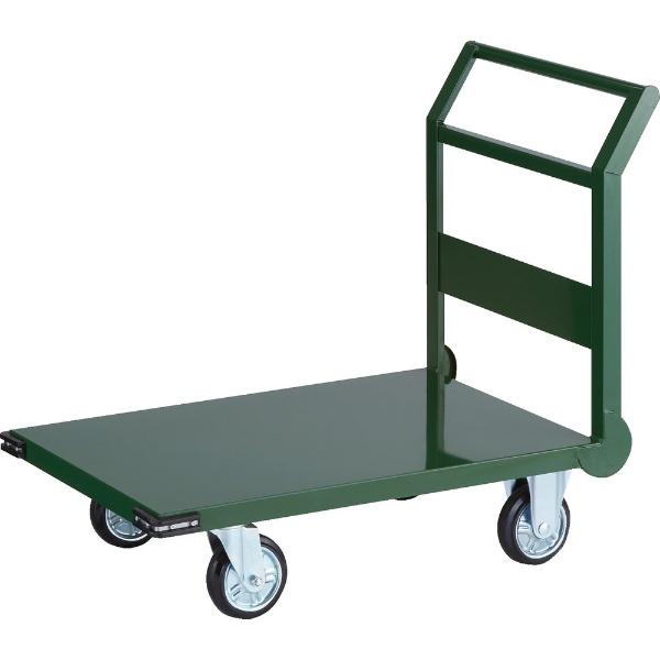 【送料無料】 トラスコ中山 鋼鉄製運搬車 900X600 Φ150プレス車 緑 SH2N 【メーカー直送・代金引換不可・時間指定・返品不可】