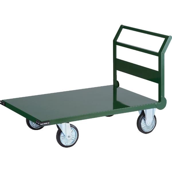 【送料無料】 トラスコ中山 鋼鉄製運搬車 1200X750 Φ200プレス車 緑 SH1N 【メーカー直送・代金引換不可・時間指定・返品不可】