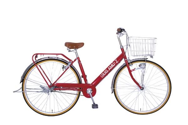 【送料無料】 タマコシ 27型 自転車 ルイスアミューズ273HD(レッド/3段変速)【組立商品につき返品不可】 【代金引換配送不可】