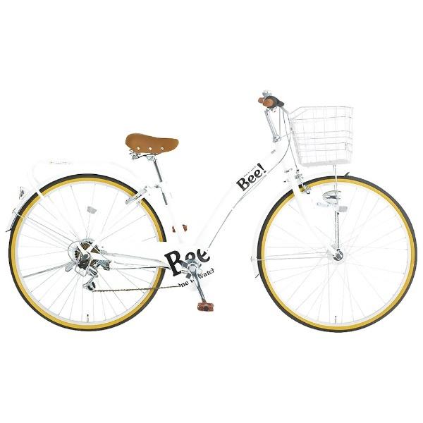 【送料無料】 タマコシ 27型 自転車 ビー276HD(ホワイト/6段変速)【組立商品につき返品不可】 【代金引換配送不可】