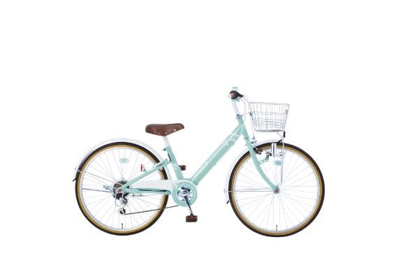 【送料無料】 タマコシ 24型 子供用自転車 マハロジュニアV246(グリーン/6段変速)【組立商品につき返品不可】 【代金引換配送不可】