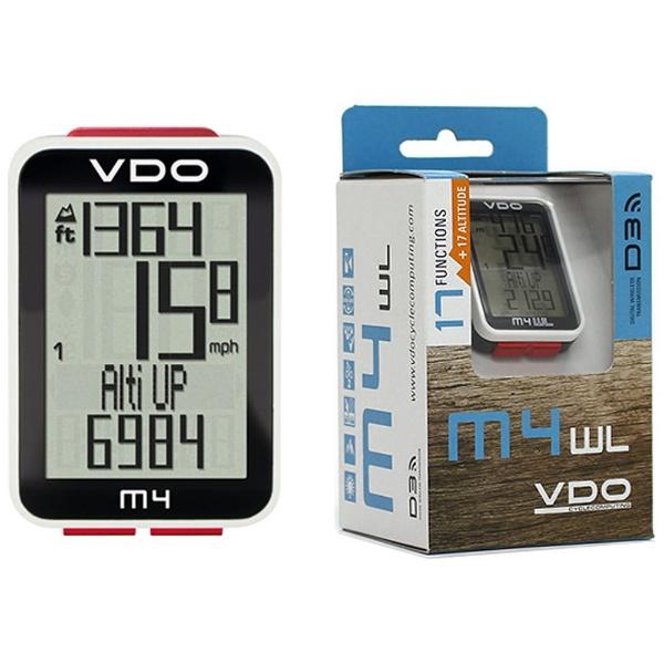【送料無料】 VDO サイクルコンピュータ VDO M4 WL(ロードレーサーモデル) 85904-00[VDOM4WL]