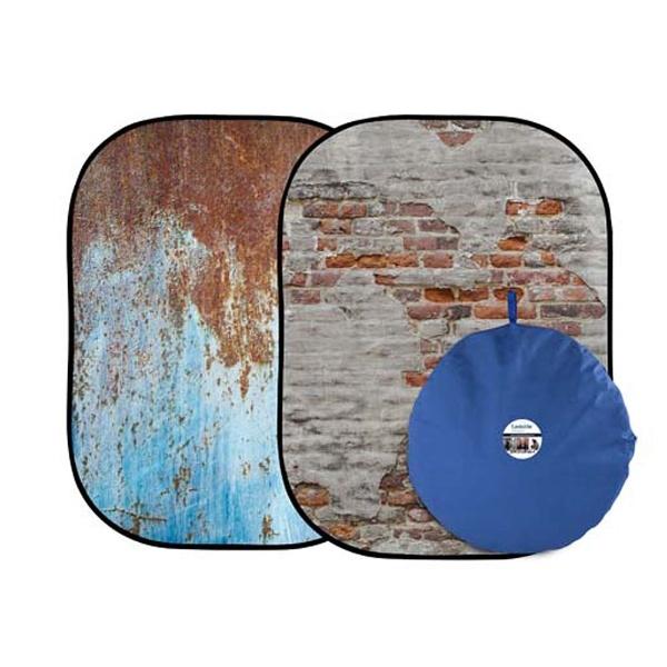 【送料無料】 ラストライト アーバン背景 1.5 × 2.1m 錆メタル/しっくい壁 LLLB5713