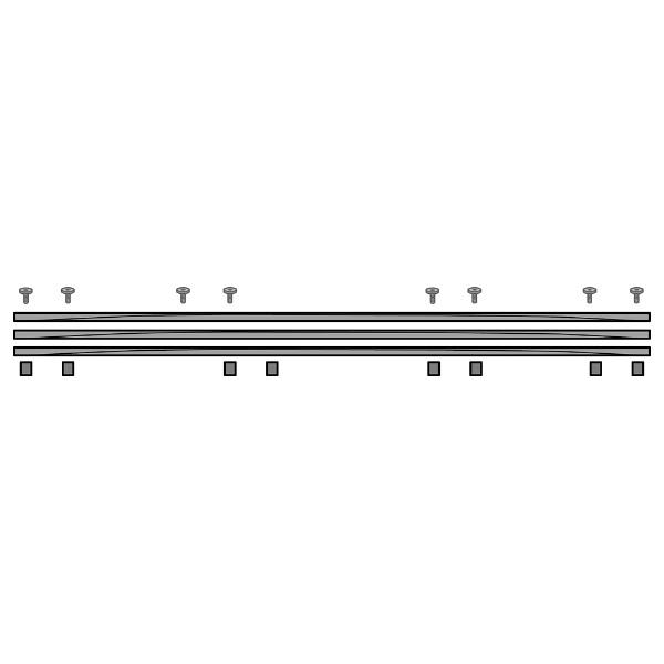 【送料無料】 ハヤミ工産 基本ユニット KMSR3WDG(ポール別売)