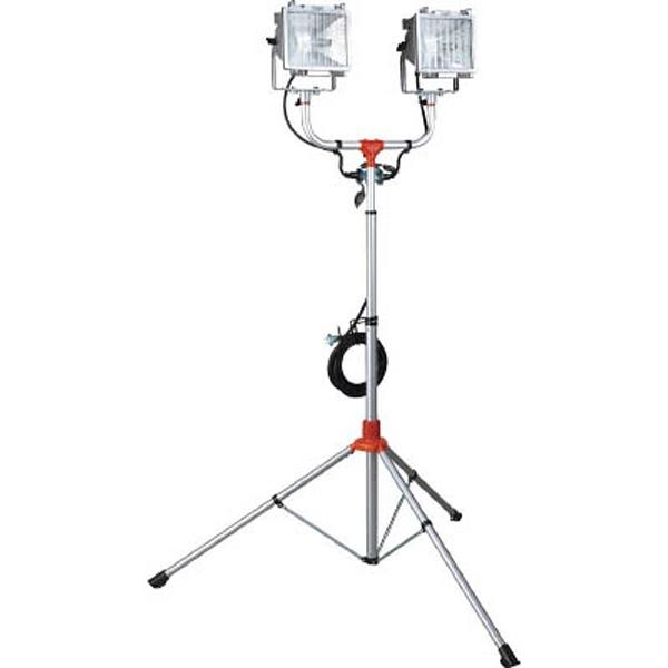 【送料無料】 ハタヤリミテッド 防雨型スタンド付ハロゲンライト 300W×2灯 100V電線5m PHCX305N