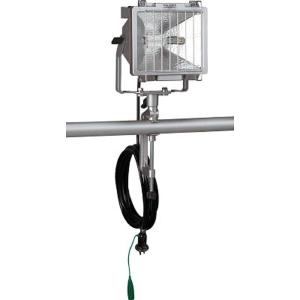 【送料無料】 ハタヤリミテッド 防雨型ハロゲンライト 300W 100V接地付電線5m バイス付 PH305KN