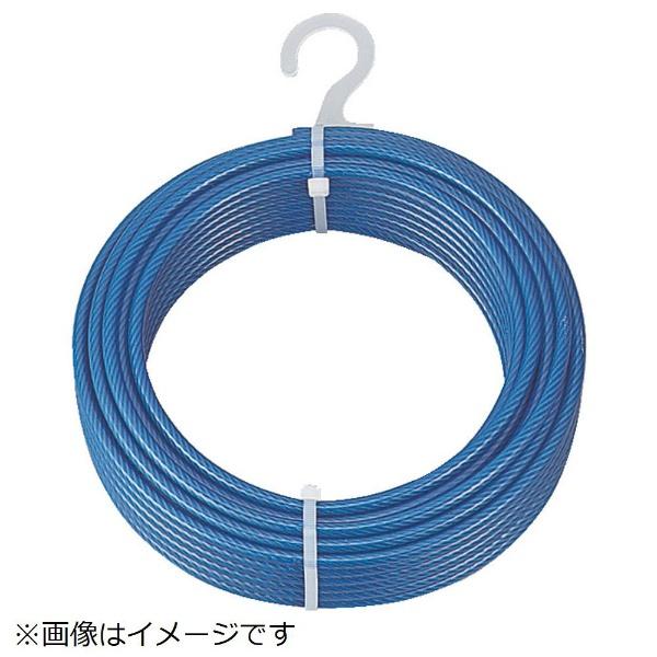 【送料無料】 トラスコ中山 メッキ付ワイヤロープ PVC被覆タイプ φ4(6)mm×200m CWP4S200