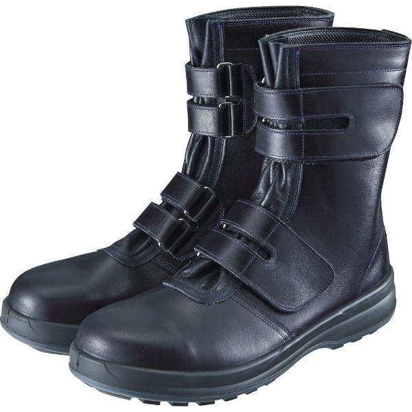 【送料無料】 シモン 安全靴 マジック式 8538黒 24.5cm 8538N24.5