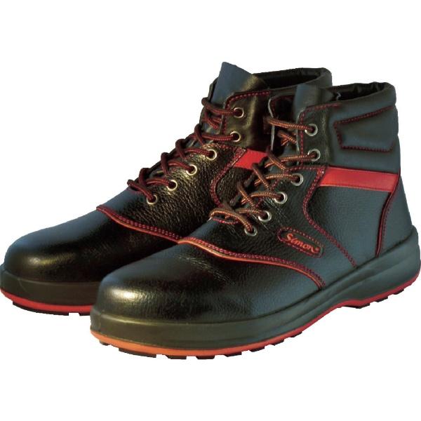 【送料無料】 シモン 安全靴 編上靴 SL22-R黒/赤 26.5cm SL22R26.5